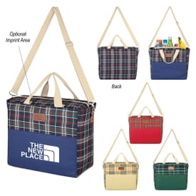 Tartan Hefty Kooler Tote Bag
